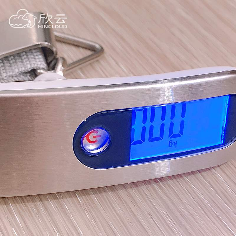Household portable electronic scale portable luggage suitcase luggage luggage scale mini scales, said hook