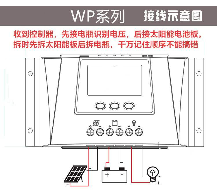 Charging solar photovoltaic power generation home automation controller 12v24v48v conversion panel lithium controller