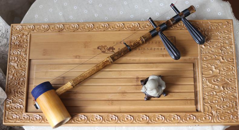 包 野生蛇皮 紫竹担子 乐器 手工精制专业演奏京胡 畅销三代传承