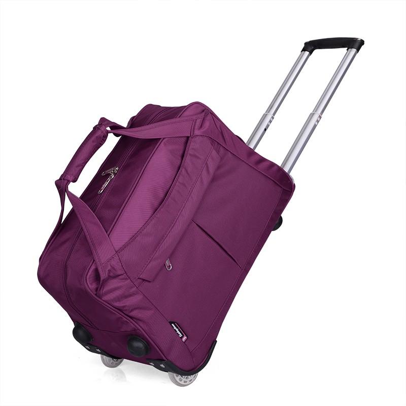 黑色女士大包裹拉杆包耐磨兜便携轮子出差帆布 816 装整理袋行李袋