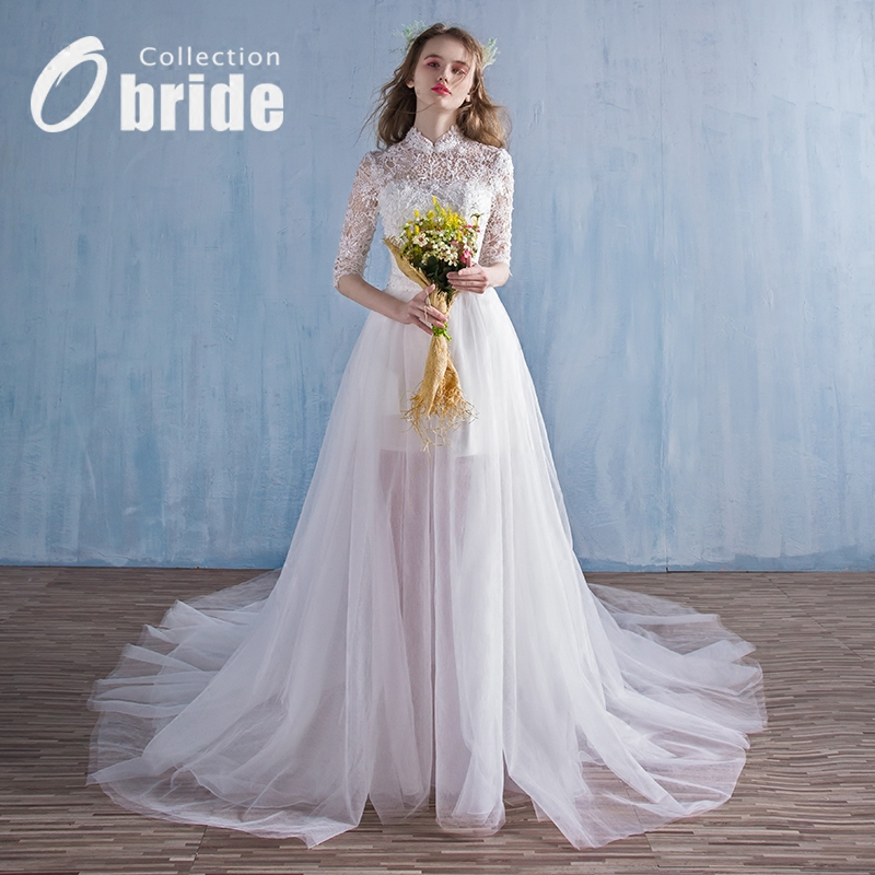 Buy New spring and summer Obride16 big drag wedding dress princess ...