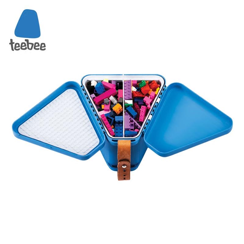 丹麦Teebee便携玩具箱儿童多功能玩具收纳盒防尘彩泥积木桌玩具台