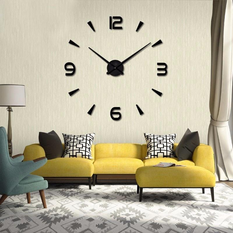 创意钟表客厅立体时尚创意挂钟静音艺术自制墙贴挂钟 DIY 现代简约