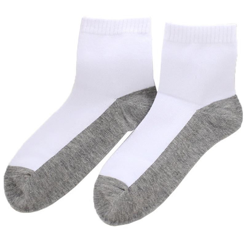 春夏秋季中筒袜薄纯棉男童白色袜子学生袜儿童运动袜纯白女童船袜