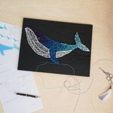 Qingshi whale starry sky dolphin gradient nail three-dimensional winding painting handmade DIY material package birthday gift
