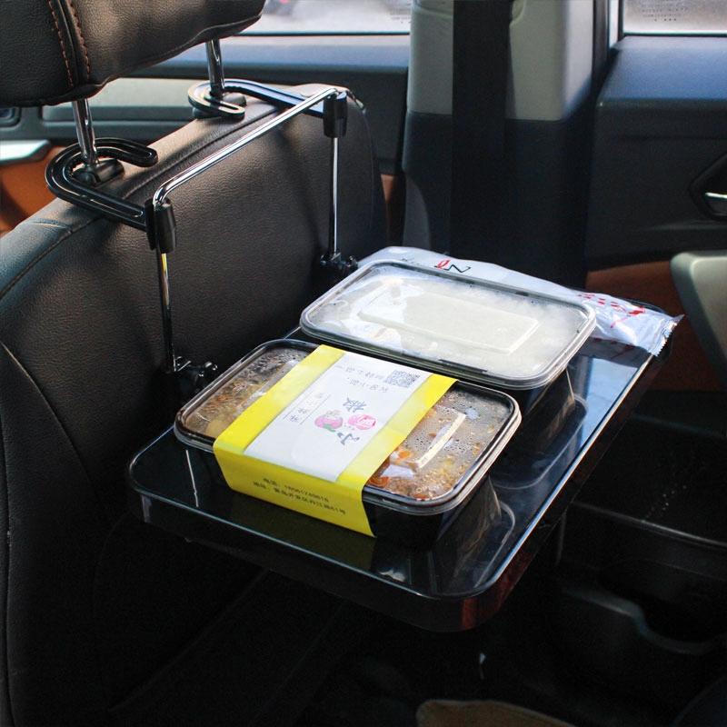 车载餐桌后座汽车办公桌子车用折叠桌小桌板平板电脑ipad支架后排
