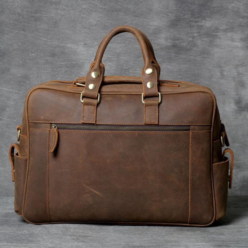 头层牛皮旅行包男士大容量行李袋手工真皮欧美复古疯马皮手提包潮