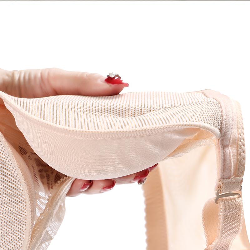 夏季白色防走光调整型内衣无钢圈加厚6cm超聚拢抹胸式少女士文胸