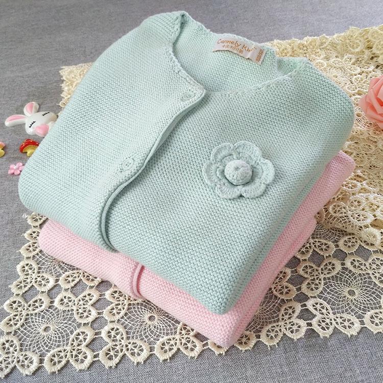 新生婴儿衣服女童小毛衣外套初生女宝宝春季洋气外搭女宝针织开衫