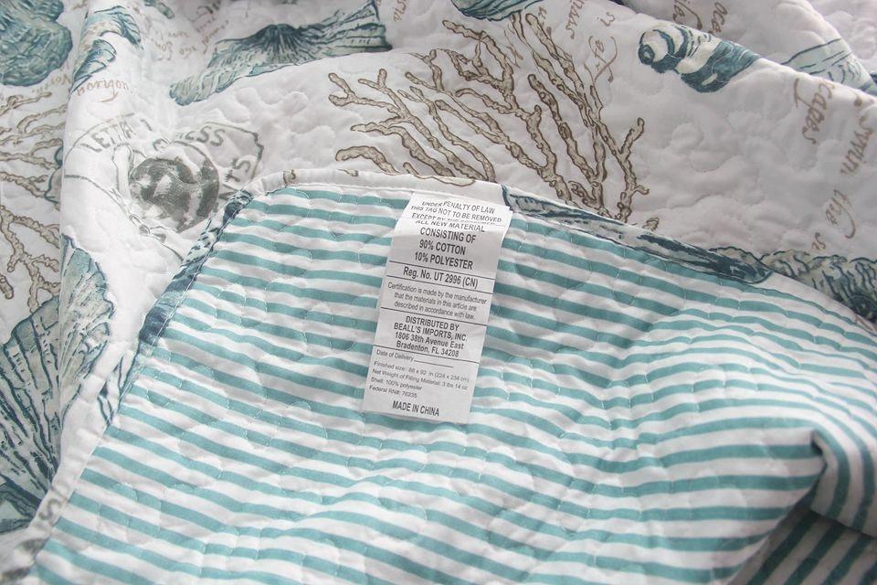 织帛 欧式海洋风绗缝被三件套 衍缝出口床盖春夏空调被夏凉被清仓