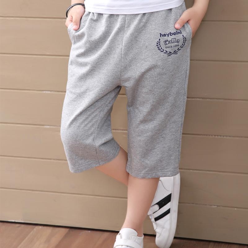 男童短褲休閒中褲薄款純棉寬鬆童裝中大童夏季七分褲兒童運動褲子
