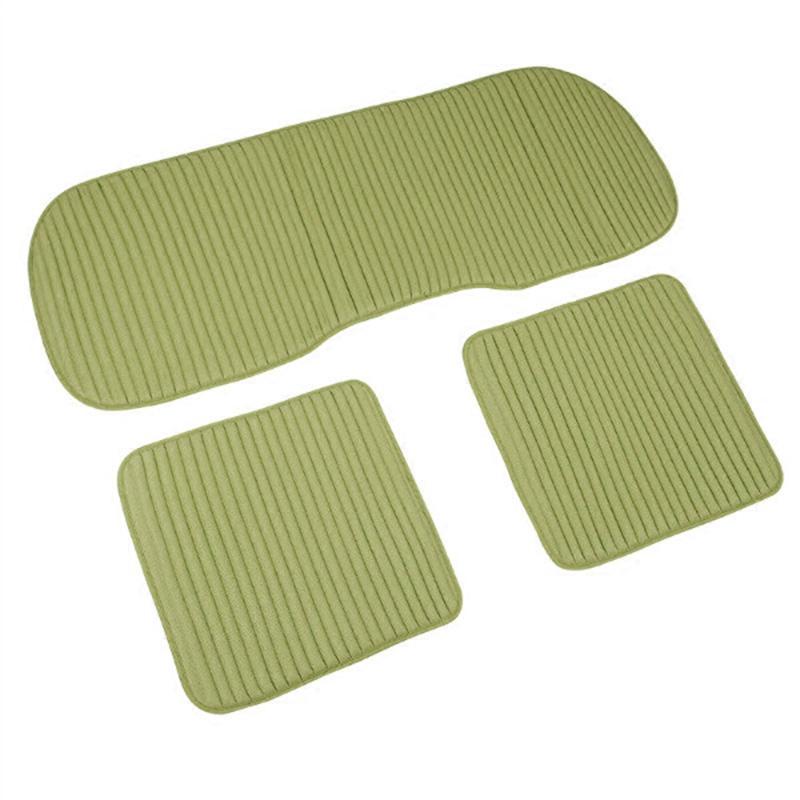 汽车坐垫单片四季通用亚麻无靠背三件套荞麦免绑防滑养生座垫夏季