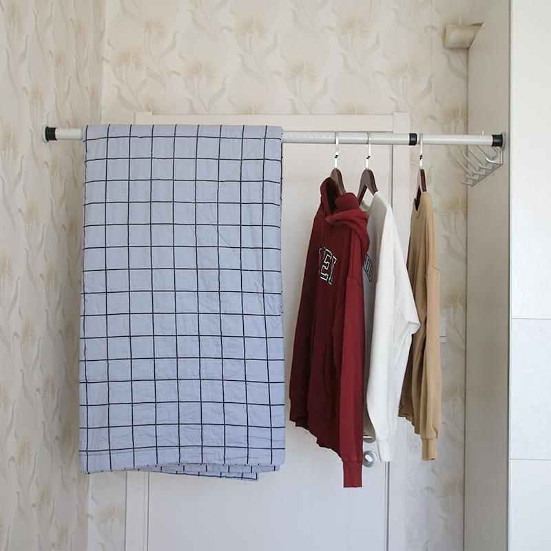 晾衣杆伸缩杆窗帘杆免打孔浴帘杆阳台涨杆卫生间免安装浴室支撑杆