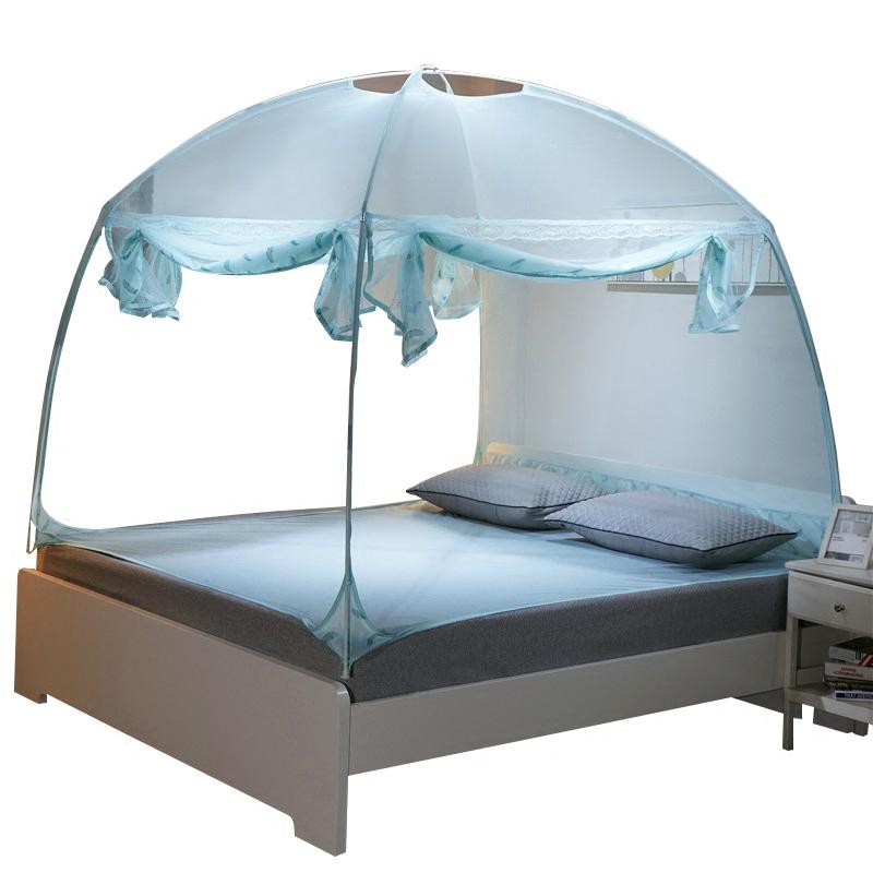 公主蚊帐家用三开门双人1.8m床1.5m床加密加厚蒙古包蚊帐1.8x2.0m