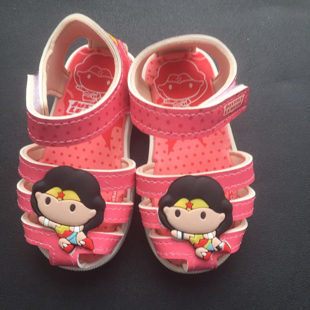 巴西儿童副牌kids超人蝙蝠侠宝宝学步鞋童鞋夏季包头透气舒适凉鞋