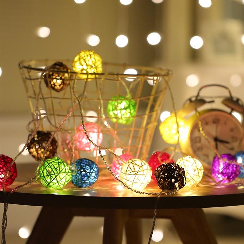 LED小彩灯闪灯串灯满天星藤球灯网红灯房间卧室布置装饰灯星星灯