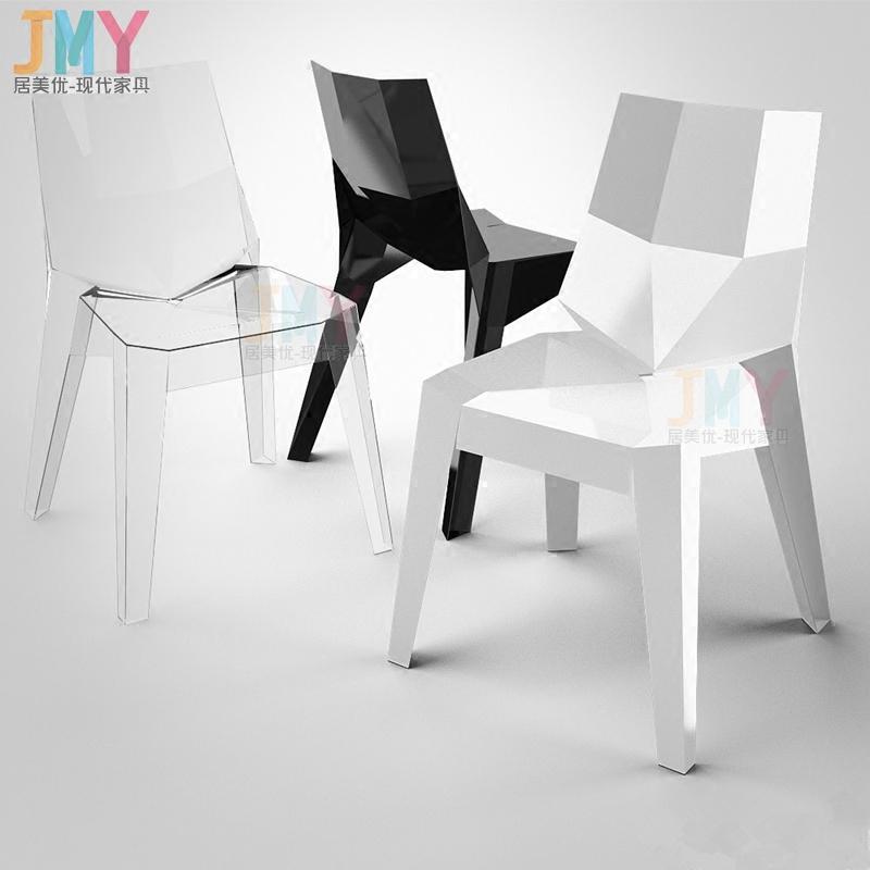 波利椅北歐時尚透明椅簡約餐椅辦公椅魔鬼椅餐廳設計師椅子