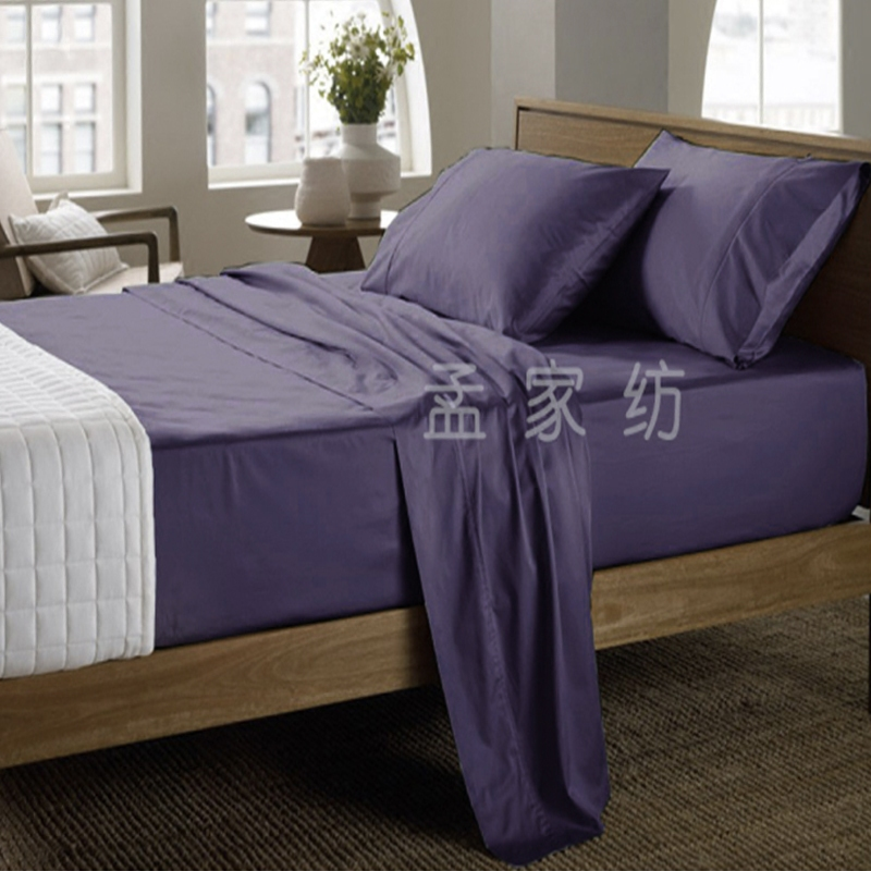 可定制纯棉床单1000根120支纯色全棉床笠单件简约加厚包邮