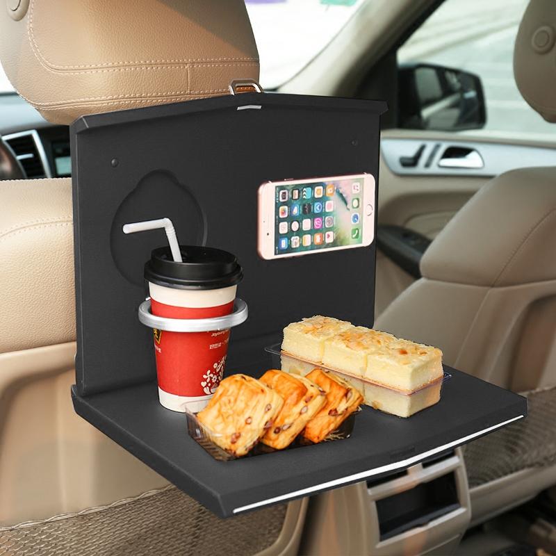 车载折叠餐桌小桌板汽车后排车内学习车用后座桌子笔记本电脑支架