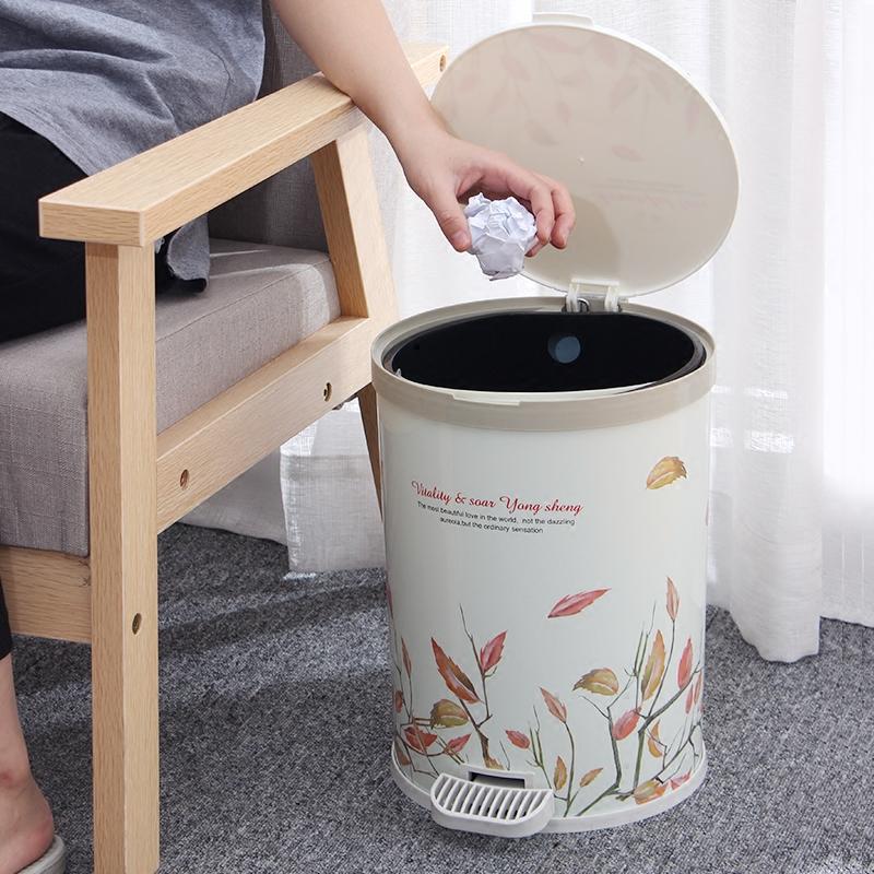 带盖创意大号家用垃圾桶脚踏式厨房客厅卫生间卧室厕所有盖脚踩筒
