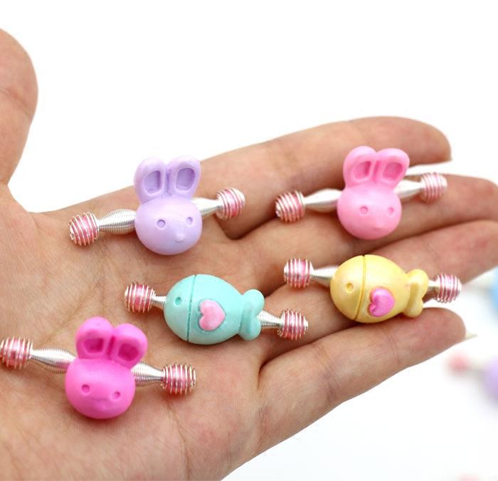 小女孩发饰婴儿拉拉夹刘海弹簧夹可爱发卡动物水果宝宝头饰安全夹