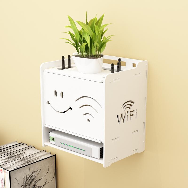 【天天特价】路由器收纳线盒理线盒桌面整理盒机顶盒收纳电源插板