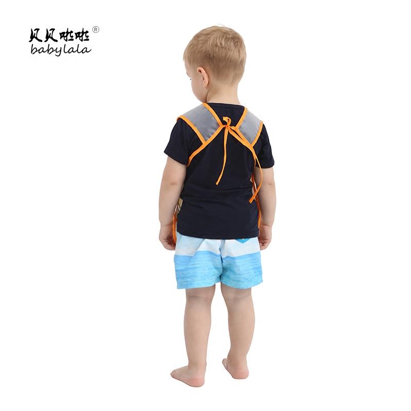 儿童宝宝无袖防水罩衣幼儿园画画夏季吃饭无袖反穿衣吃饭围兜