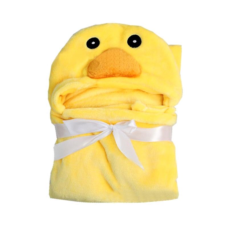 新生婴幼儿抱被冬抱毯珊瑚绒包被披风法兰绒包巾卡通被子斗篷睡袋