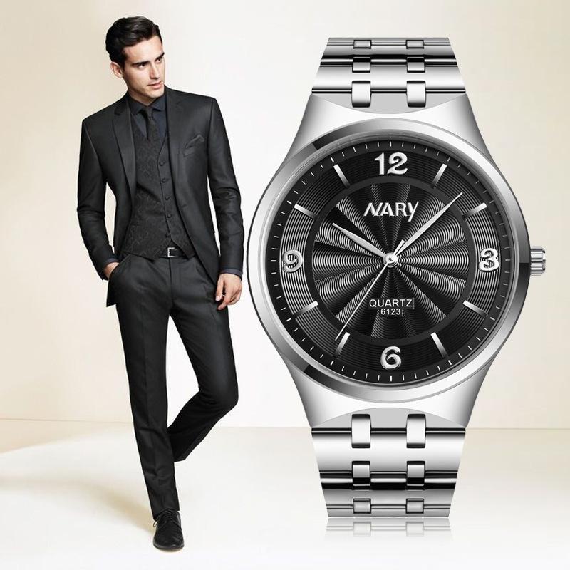 时尚手表男士钢带防水男表品质韩商务情侣超薄百搭石英表