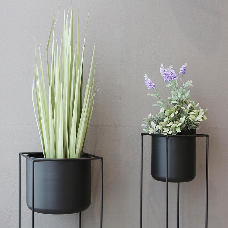 北歐花架子客廳整裝落地式創意現代簡約陽臺鐵藝綠蘿 myfine 麥凡
