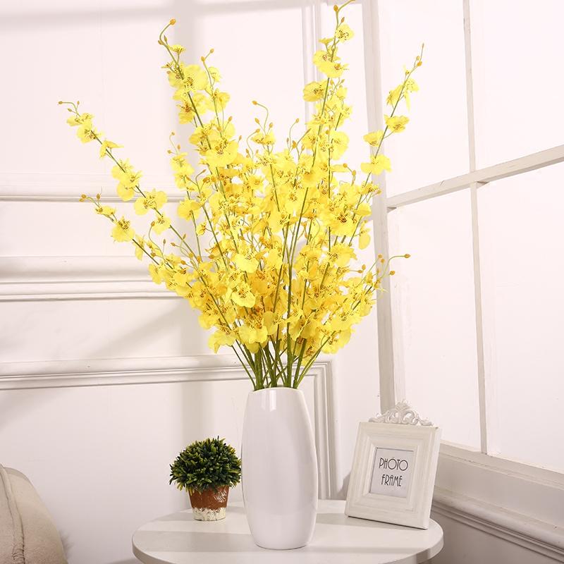 现代简约客厅创意时尚摆件家居装饰品 陶瓷花瓶花器 跳舞兰花套装