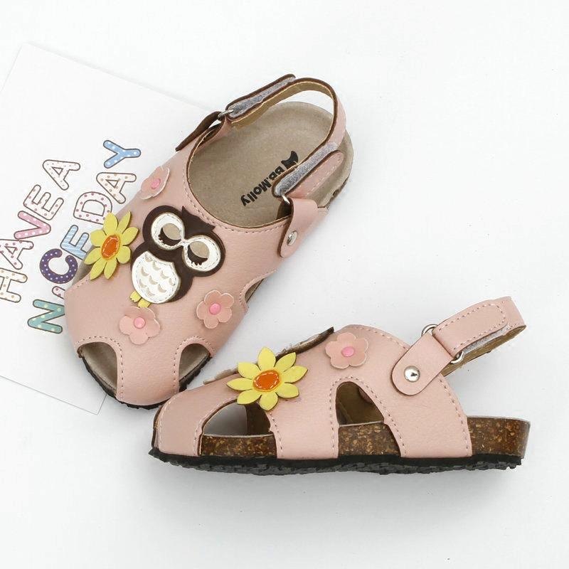 可爱包头护脚女童凉鞋 新款宝宝韩版洞洞沙滩鞋 中小童软底儿童鞋