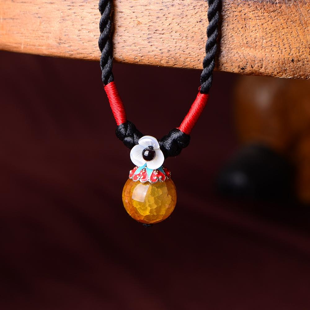 民族风项链女文艺手工编织锁骨链短款百搭简约衣服配饰装饰品森系