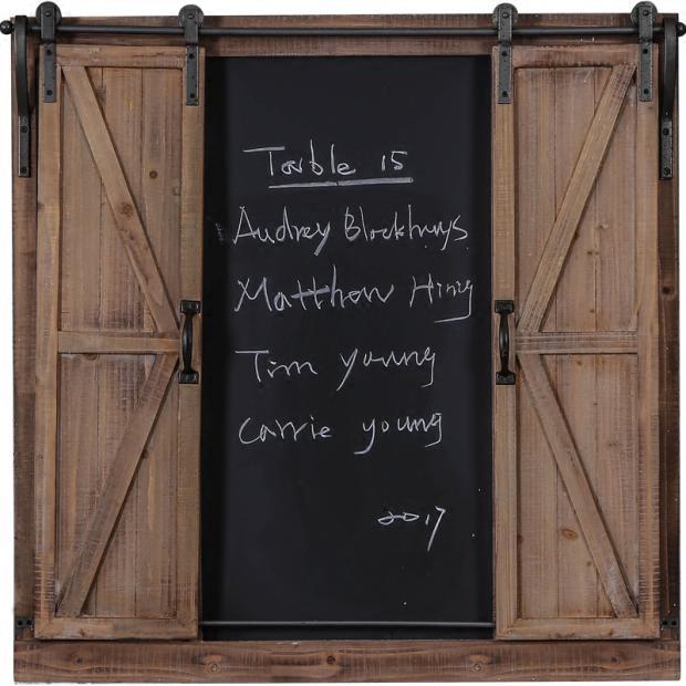 工业风假窗留言板装饰壁挂餐厅奶茶店复古墙饰黑板墙面立体挂饰品