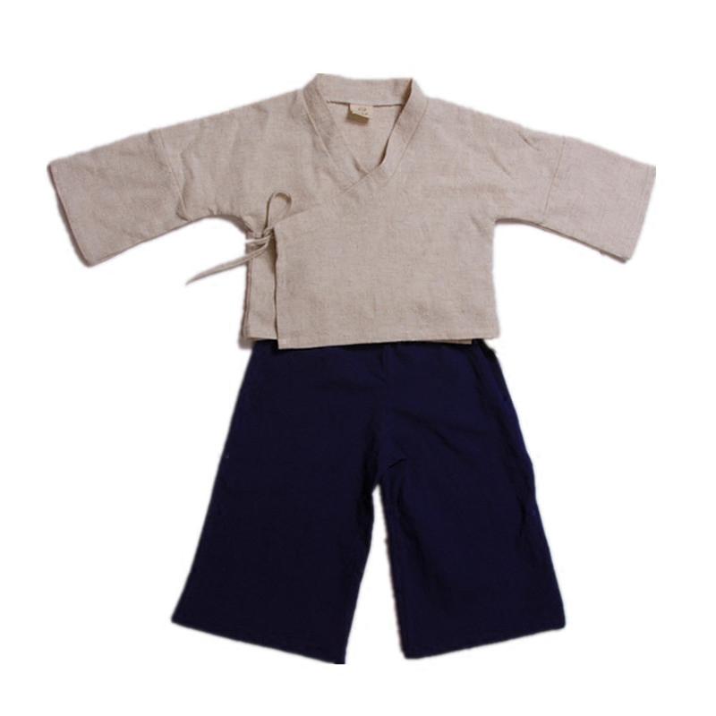 儿童装全棉麻汉服套装男女童唐装六一儿童节表演服宝宝民族风中式
