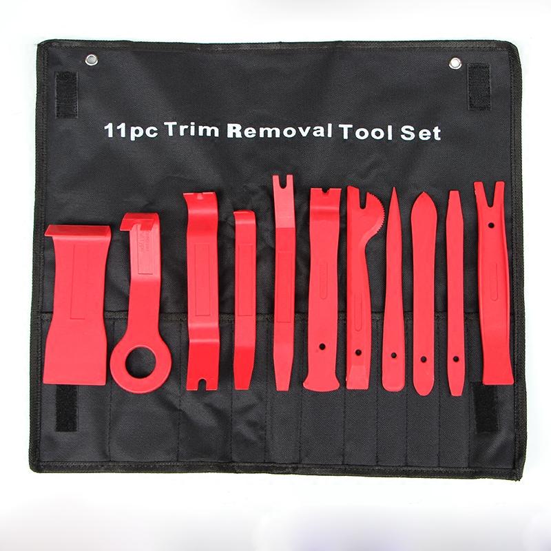 11件套汽车内饰音响门板拆卸工具 翘板改装工具面板撬棒胶扣起子