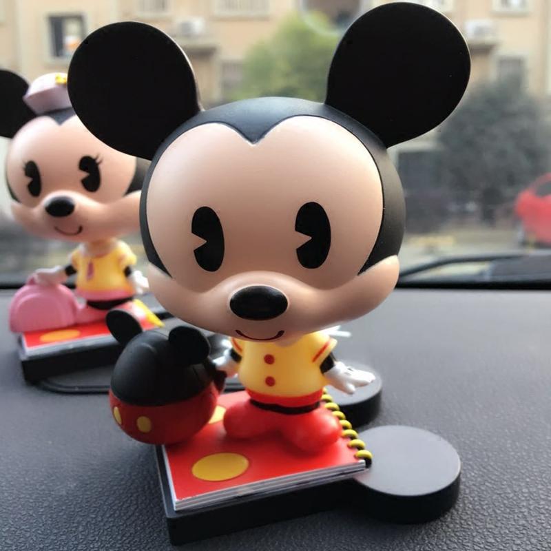 新款迪士尼米奇汽车模型摆件卡通可爱米老鼠回力声光合金汽车摆件