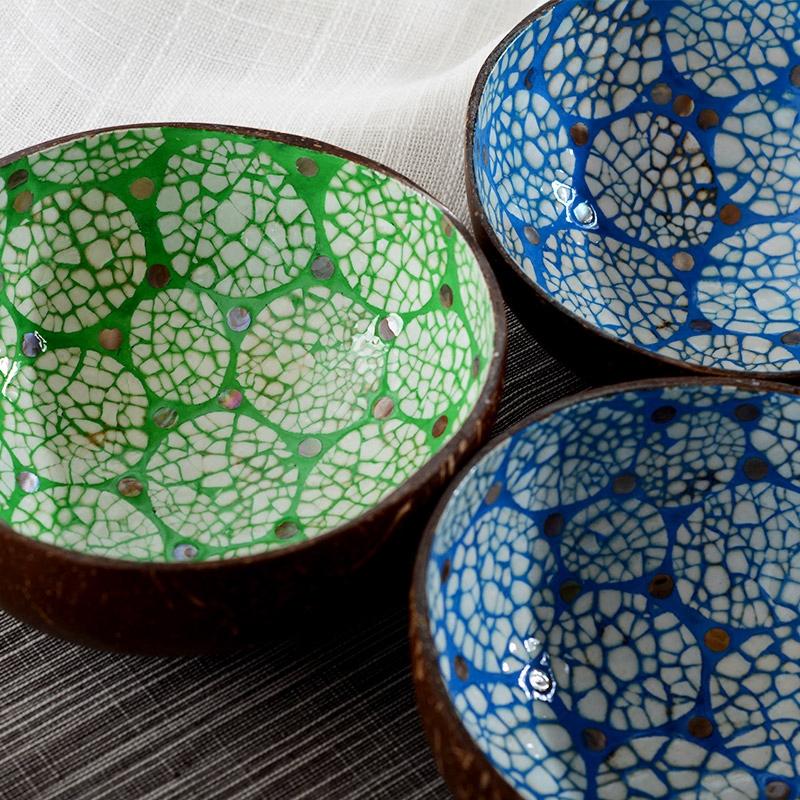 异丽家居越南进口特色自然椰壳装饰碗茶几桌面钥匙收纳盒果盘