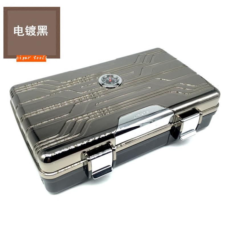 JIFENG季风雪茄盒便携雪茄盒旅行便携雪茄保湿盒 10支装