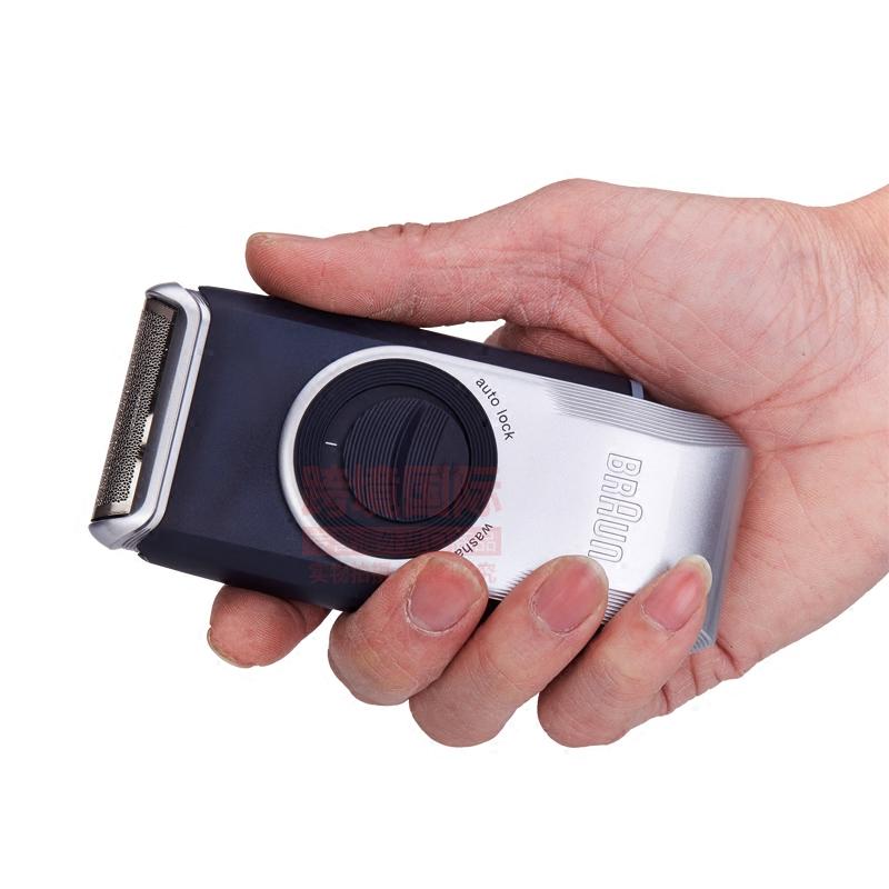干电池全身水洗翻盖便携式 电动刮胡刃 M90 博朗男士剃须刃 Braun