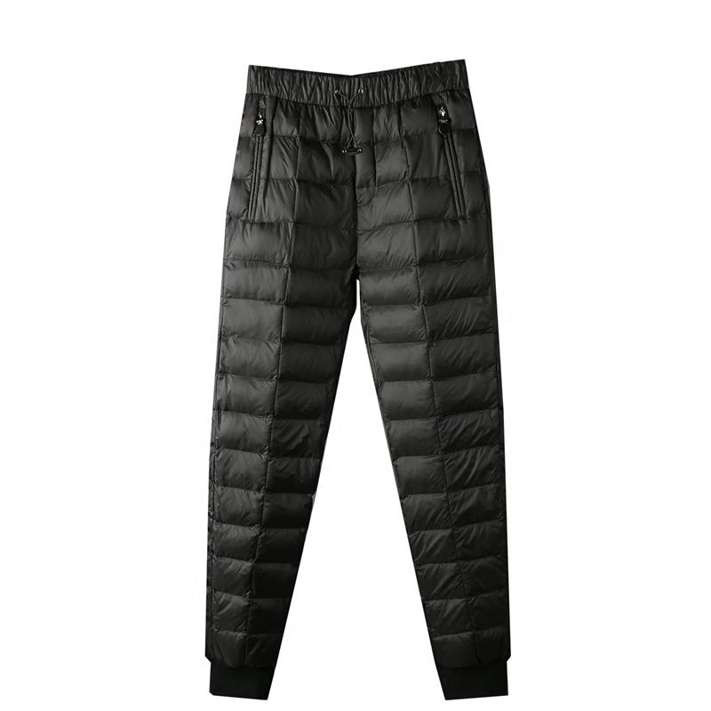 抗寒聚温不臃肿 保暖羽绒棉填充 冬季男士修身小脚休闲羽绒棉裤
