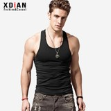 Continued Men's I-Beer Vest Pure Cotton Youth Breathable Sports Fitness Slim Fit Slimming Base Sweat Summer Bodybuilding