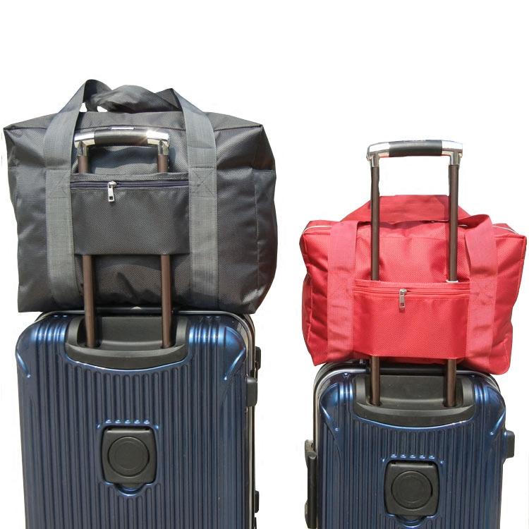 手提防水牛津布旅行袋短途游出差登機收納大容量可套拉桿箱行李包