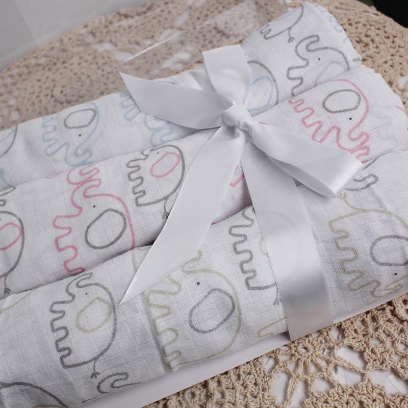 原 纯棉新生儿纱布包被婴儿抱毯 夏季盖毯床单裹布 3件一盒特价
