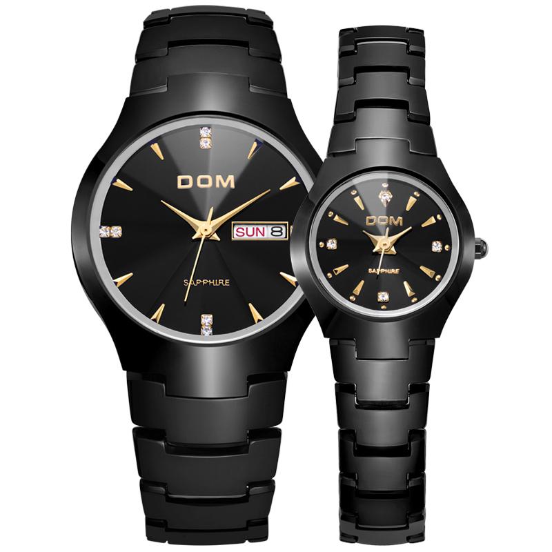 石英机芯手表防水休闲男表男士日历品牌手表国产腕表 698 DOM2012