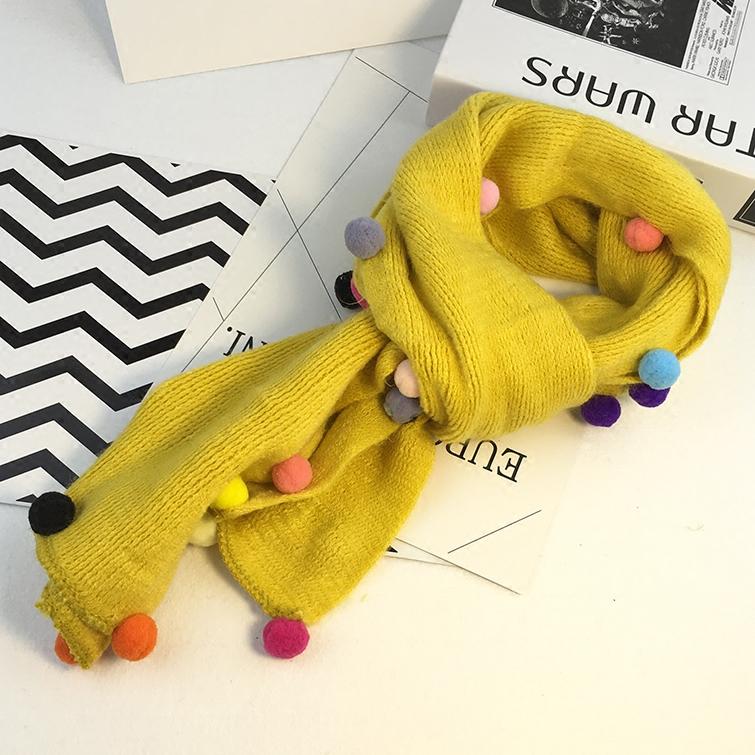 兒童毛線圍巾秋冬天 女童針織保暖圍脖男童韓版 時尚小孩寶寶脖套