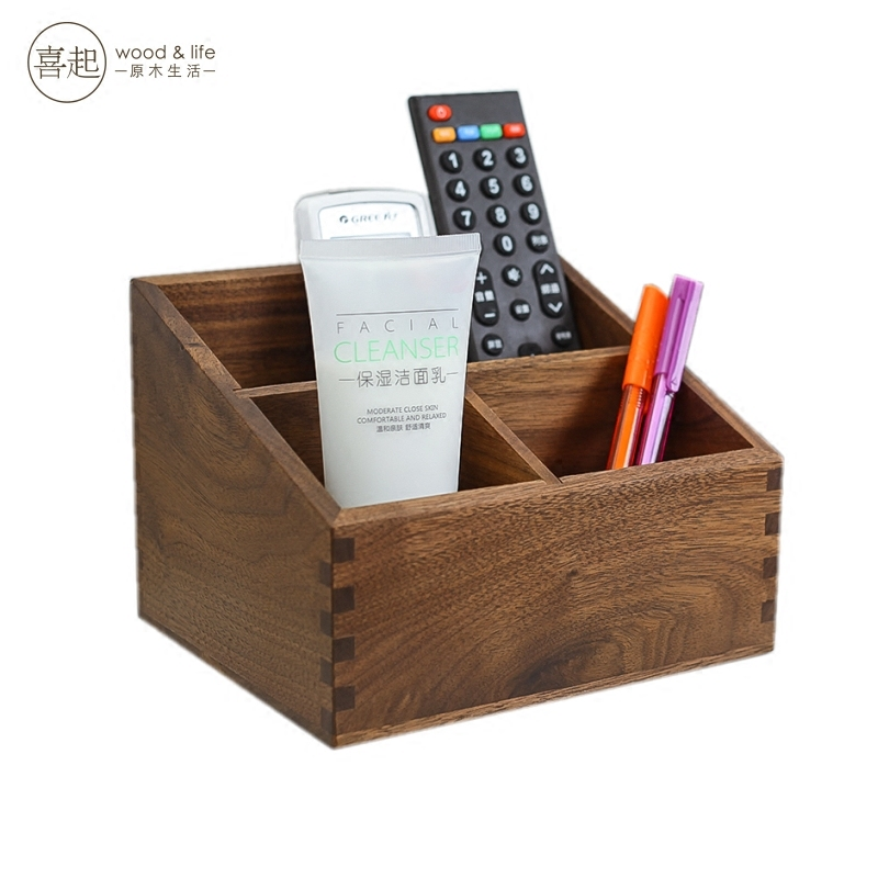 Recommended For You Hi Play Walnut Wood Desktop Debris Storage Box Remote Control