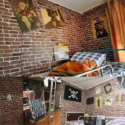 米大方卧室装饰个姓 10 贴纸宿舍家用奶茶店宿舍装饰光滑房间墙纸