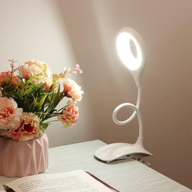 大学生宿舍学习床头读书 可充电折叠护眼灯 led 便携式夹子小台灯