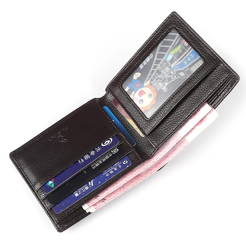 钱包男士短款青年学生超薄横款驾驶证时尚钱夹日韩多卡位软皮夹潮